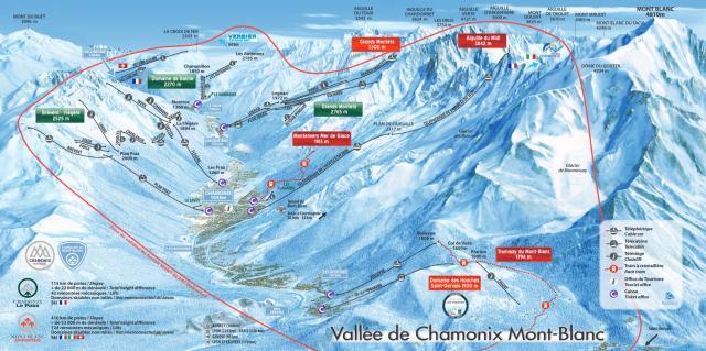 Chamonix piste carte