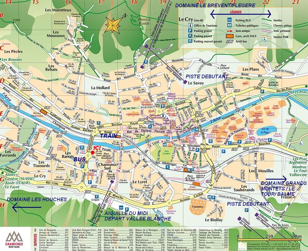 Plan ville chamonix1